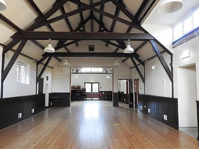 Empty village hall