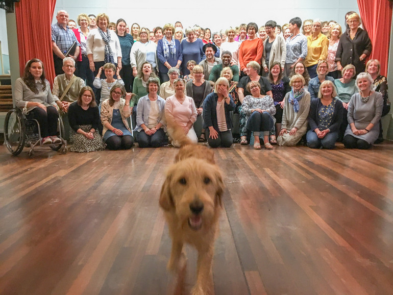 Ted the dog with Choir On The Green