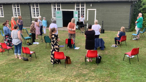 Choir Return to Village Hall