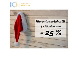 5 x 60 min Hieronta sarjakortti | Hieronta IO-Klinikka