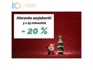 Hieronta sarjakortti 3 x 25 min   Hieronta IO-Klinikka