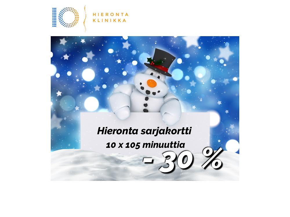 10 x 105 min Hieronta sarjakortti | Hieronta IO-Klinikka
