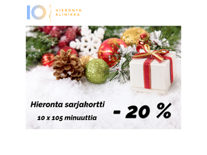 Hieronta sarjakortti 10 x 105 min | Hieronta IO-Klinikka Leppävaara