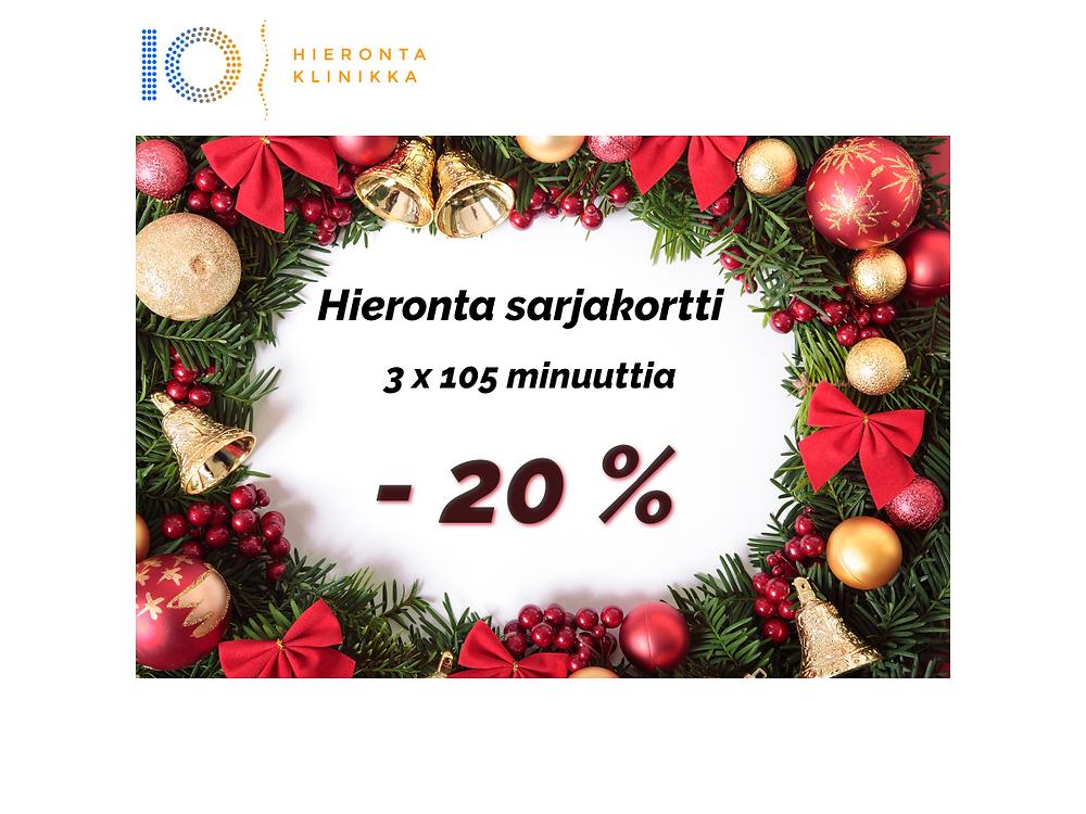 3 x 105 min Hieronta sarjakortti | Hieronta IO-Klinikka