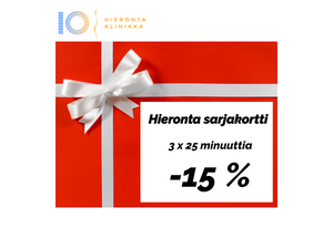 Hieronta sarjakortti 3 x 60 min | Hieronta IO-Klinikka