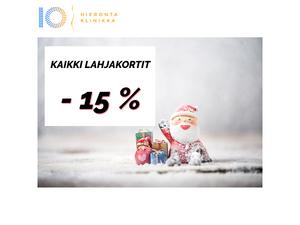 Lahjakortit -15% | Hieronta IO-Klinikka
