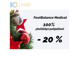 FootBalance Medical pohjalliset -20% | Hieronta IO-Klinikka Leppävaara