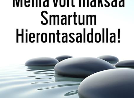 Maksuvälineenä Smartum Hierontasaldo