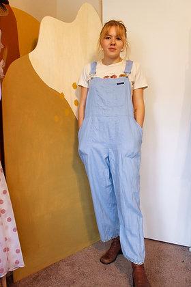 Medium linen daisy overalls