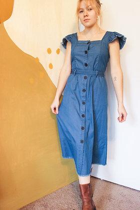 Small denim cottage dress