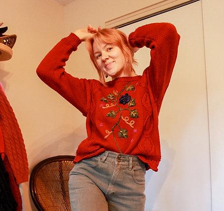 S/M Cranberry Sweater