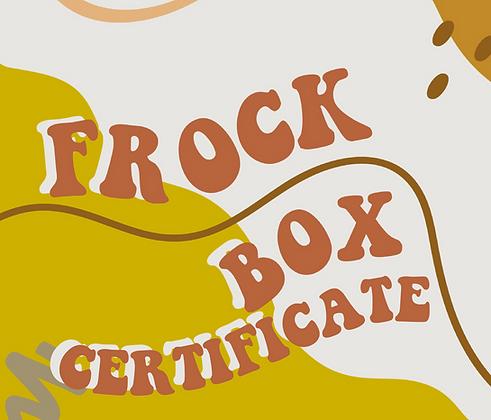 3 piece FROCK BOX CERTIFICATE