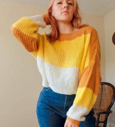 M-L Candy Corn Queen Sweater