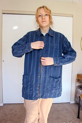 Large denim shop coat