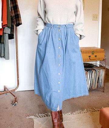 S/M 90s button skirt