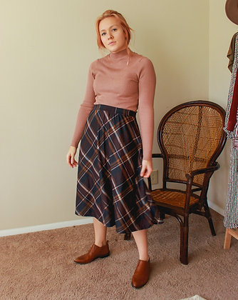 L-XL Plaid you came skirt