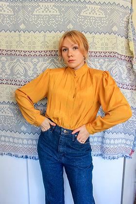 S/M ochre tuxedo blouse