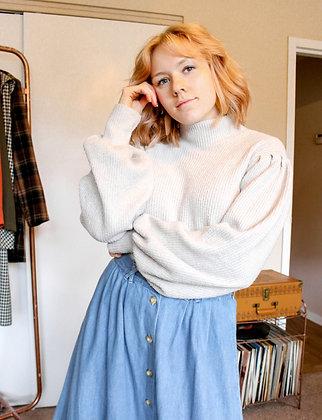 Large puff sweater