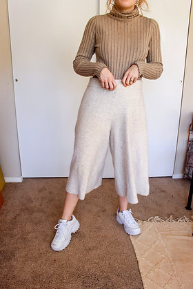 Large knit palazzo pants