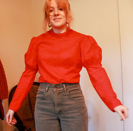 Small Red Blouse