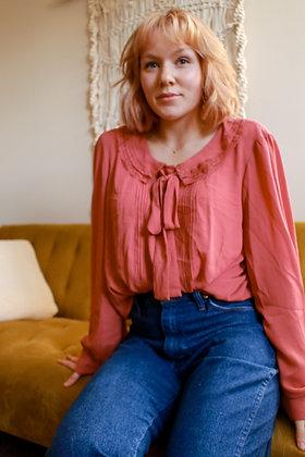 L/XL posh peasant blouse