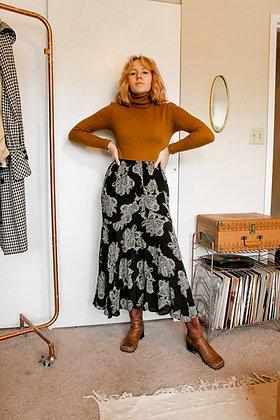 S-L floral flow skirt
