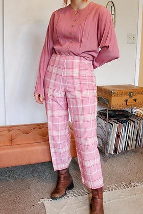 Medium 60's plaid pants