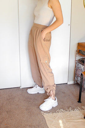 Medium tan track pants