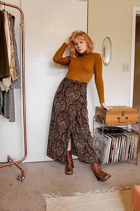 Small 80s paisley wrap skirt