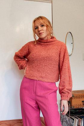 S/M puff boucle sweater