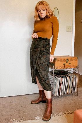 S/M 70s jungle wrap skirt