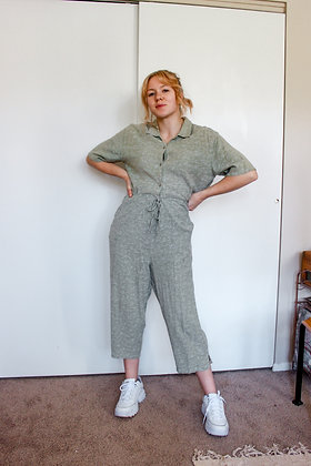 Large embroidered green set