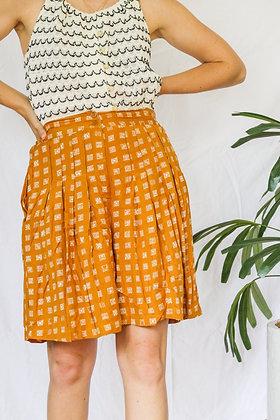 XL funky mustard flow shorts