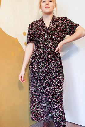 80's floral dress