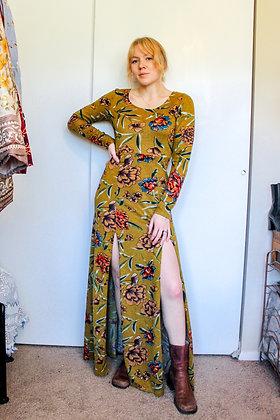 S/M floral maxi dress