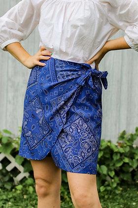 s/m bandana wrap mini skirt