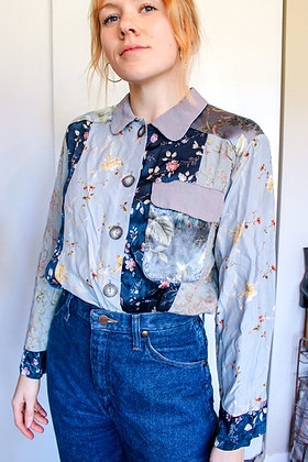 Small patchwork floral top