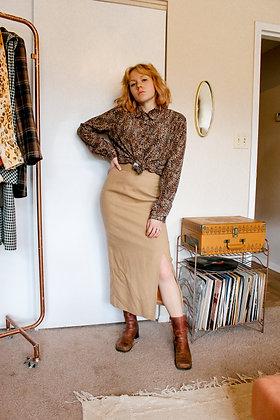 Small wool slit skirt