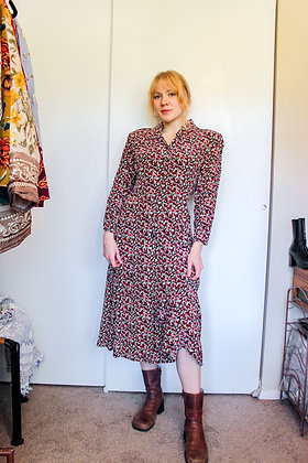 Medium floral 80s does 40s dress