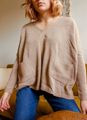 S-L pocket sweater