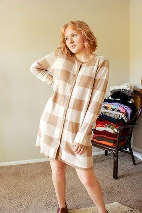 S-L check please sweater dress