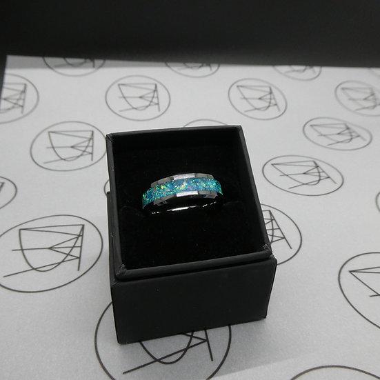 Black Ceramic Inlay Ring
