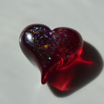 Coloured Resin Heart 67mm
