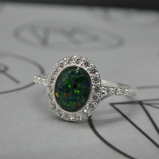 Sterling Silver Oval Ring