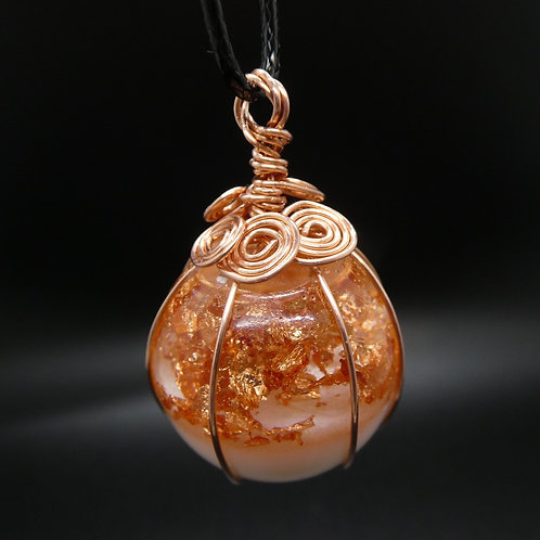 Wire Wrapped Breastmilk Pendant