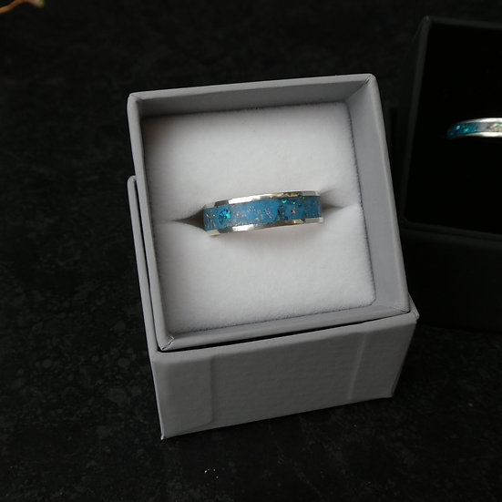 Sterling Silver Inlay Ring