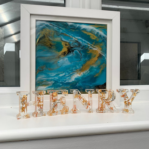 Resin Standing Letters