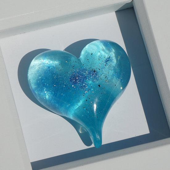 Framed Memorial Resin Heart