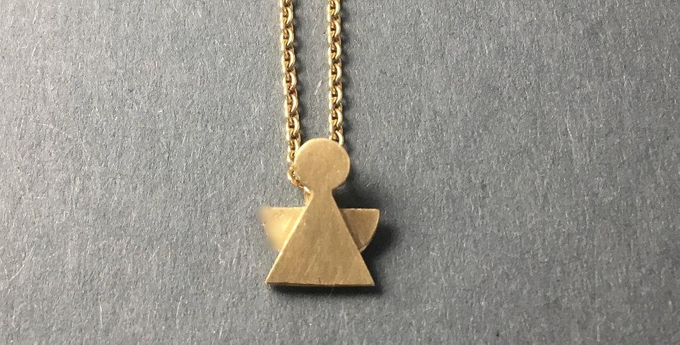 Schutzengel Gold mit Ösenkette