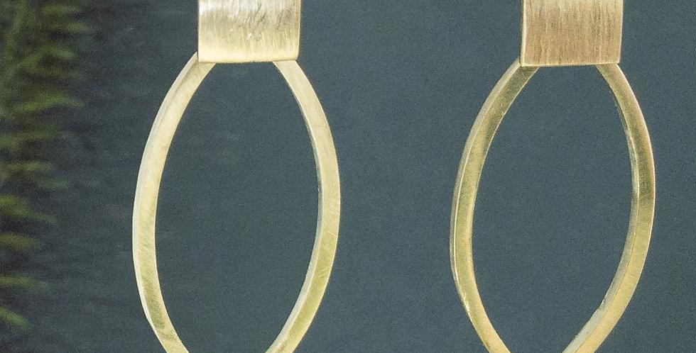 Ohrringe in Gold matt gebürstet